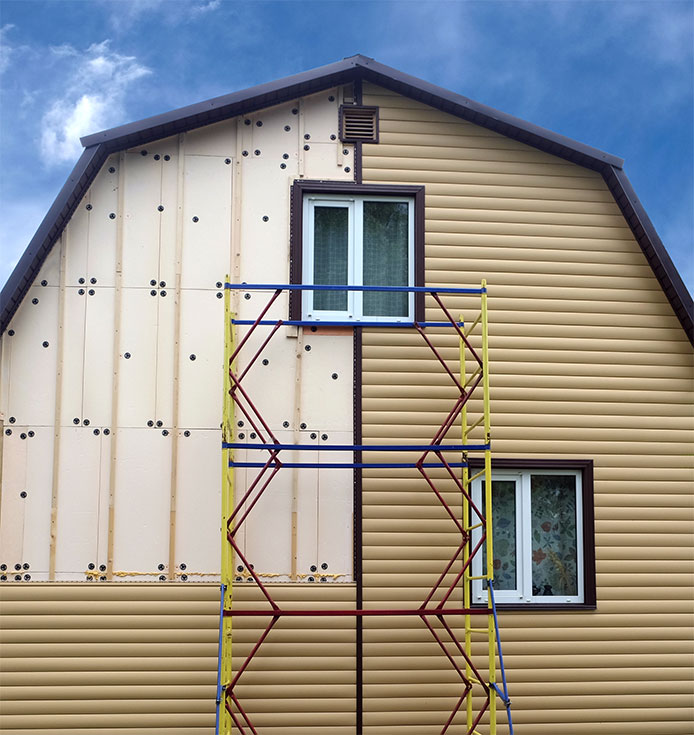 Siding on home